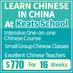 Chinese language course in China