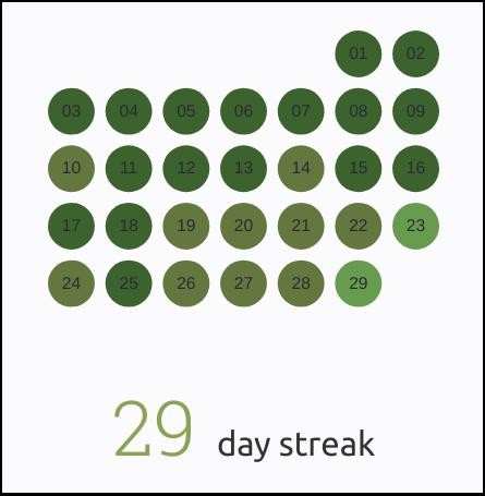Skritter review: Study streak